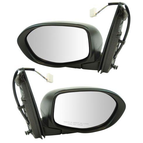 14-16 Honda Odyssey Mirror Power Black Texture Pair