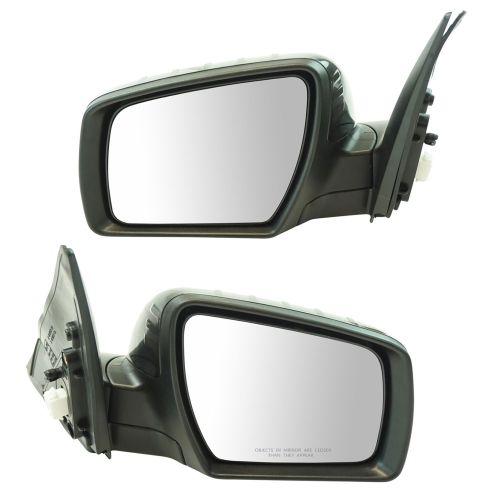 Exterior Power Heated w// Signal Mirror Black LH RH Pair for Kia Soul New