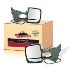 04-15 Niss Titan Pwr, Htd, Memory, Chrome & PTM Covers, (w/Mtg Brkts) Towing Mirror PAIR (TR)