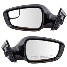 14-16 Hyundai Veloster w/Glass Roof Power Heated Spotter PTM Mirror PAIR