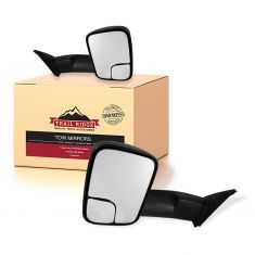 16-18 Toyota Tacoma Power, Heated, Upgrade Flip Up Style w/Textured Cap Performance Tow Mirror PAIR