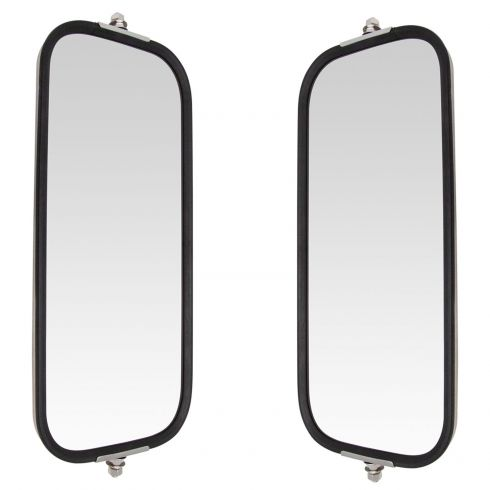 Heavy Duty Truck 16 x 7 OEM Style Peak Back Stainless Steel West Coast Mirror PAIR