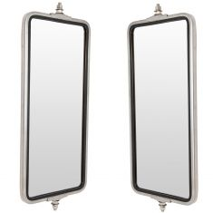 Heavy Duty Truck 16 x 7 OEM Style Stainless Steel West Coast Mirror PAIR