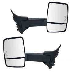99-07 F250-F550; 00-05 Excrsn (Long Arm, Dual HTD Glass) Upgraded Pwr w/LED TS Txt Blk TOW Mir PAIR