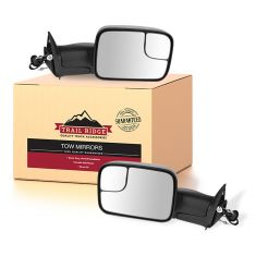 98-02 Dodge Ram Pickup Power Heated Tow Mirror w/Support Bracket PAIR (Trail Ridge)