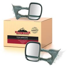 99-10 Ford Super Duty Pickup; 00-05 Excursion Manual Towing Mirror PAIR (Trail Ridge)