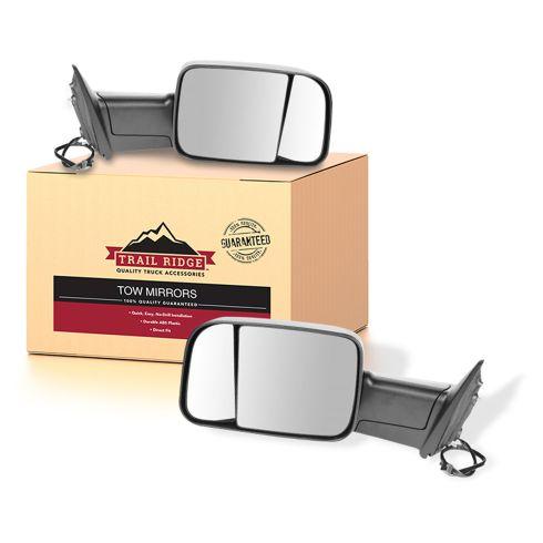 09-11 Dodge Ram 1500; 10-11 Ram 2500 3500 Power Heated Towing Mirror PAIR (Trail Ridge)