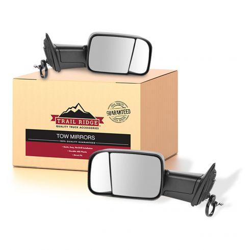 13-15 Ram 1500; 13-15 2500/3500 Power Heated Signal Puddle LH Temp Text Mirror PAIR (Trail Ridge)