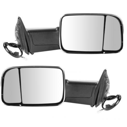 13-15 Ram 1500;13-14 2500/3500 Pwr Fold Heat Mem Signal PL LH Temp Chrome Mirror PAIR (Trail Ridge)