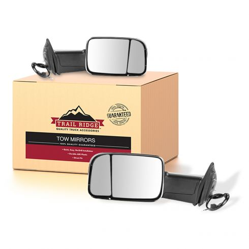 13-15 Ram 1500;13-14 2500/3500 Pwr Fold Heat Mem Signal PL LH Temp Chrome Mirror PAIR (Trail Ridge)