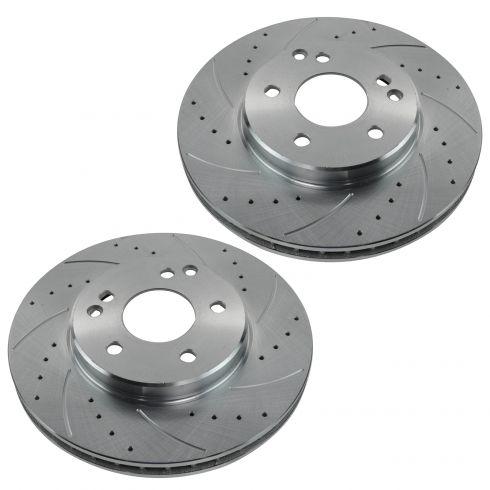 Front+Rear Rotors Ceramic Pads For MERCEDES BENZ C240 C280 C320 C350 C350 CLK350