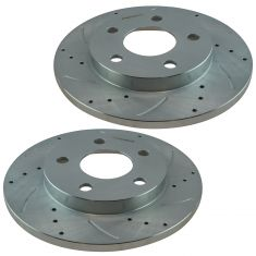 04-08 Buick Lacrosse Pontiac Grand Prix Performance Brake Rotor Rear Pair