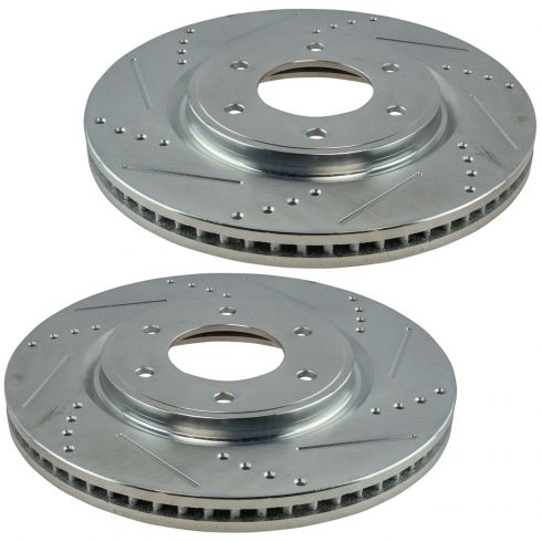 Disc Brake Rotor Front Pair for Nissan Armada Titan Infiniti QX56