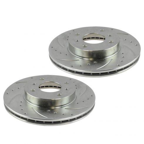 Fits: 02-06 Q45 03-04 M45 Rotors w//Ceramic Pads OE Brakes Front