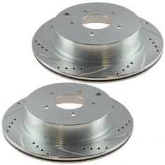 03-11 Infiniti; 03-10 Nissan Multifit Rear Performance Brake Rotor Pair