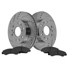 Front Performance Rotor & Posi Metallic Pad Kit 05-07 Chevy Truck/SUV