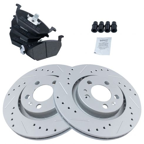 Front Performance Rotor & Posi Metallic Pad Kit  99-10 VW Beetle, Jetta, Golf