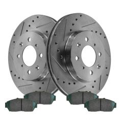 Front Performance Rotor & Posi Ceramic Pad Kit 94-01 Intergra; 94-95 Civic