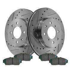 Front Brake Rotors Metallic Pad 1994-1996 1997 1998 1999 2000 2001 ACURA INTEGRA
