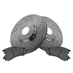 Front Performance Rotor & Posi Metallic Pad Kit 06-12 Nissan 350Z, 370Z