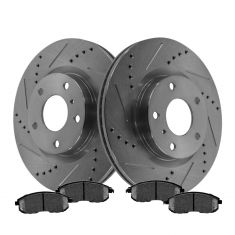 Front Performance Rotor & Posi Metallic Pad Kit 03-05 350Z; 03-05 G35