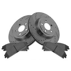 Front Performance Rotor & Posi Metallic Pad Kit 05-12 300, Charger, Challenger