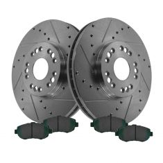 Front Performance Rotor & Posi Ceramic Pad Kit 98-10 Lexus GS IS SC300 430
