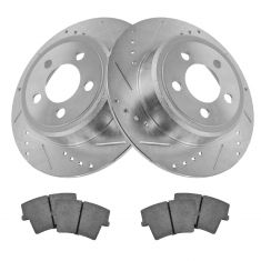 Rear Performance Rotor & Posi Ceramic Pad Kit 05-12 300, Charger