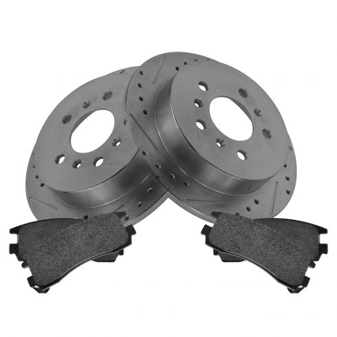 Rear Performance Rotor & Posi Metallic Pad Kit 06-10 Impala, Lacrosse, Monte