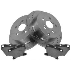 Rear Performance Rotor & Posi Metallic Pad Kit 00-06 Corolla Matrix