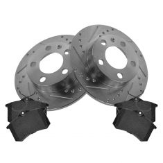 Rear Performance Rotor & Posi Metallic Pad Kit 99-10 VW Jetta Golf