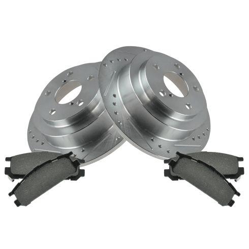 Rear Performance Rotor & Posi Metallic Pad Kit 93-99 Impreza, 90-99 Legacy
