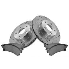 Front Performance Rotor & Posi Ceramic Pad Kit 96-98 Skylark, Grand Am