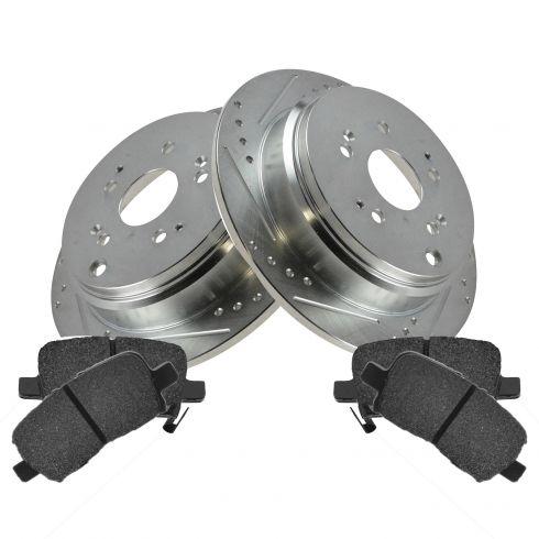 Rear Performance Rotor & Posi Ceramic Pad Kit 02-04 Honda Odyssey