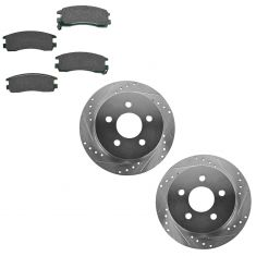 Rear Performance Rotor & Posi Ceramic Pad Kit 97-05 Buick Olds Pontiac