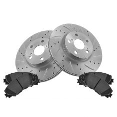 Front Performance Rotor & Posi Ceramic Pad Kit 09-12 Corolla Matrix; 08-12 Scion