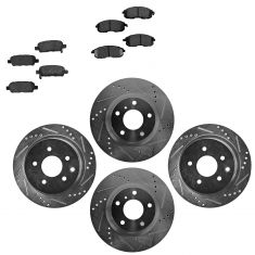 Front & Rear Performance Rotor & Posi Metallic Pad Kit 03-05 350Z; 03-05 G35