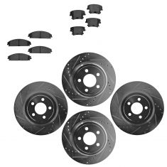 Front & Rear Performance Rotor & Posi Metallic Pad Kit 05-12 Charger, Challenger
