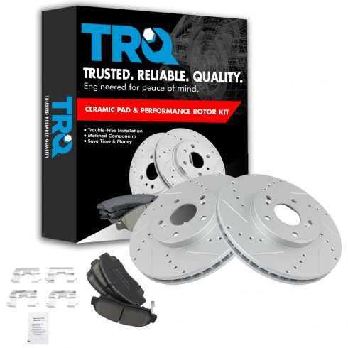 Front Brake Rotors /& Ceramic Pads For HONDA ACCORD SEDAN COUPE ACURA TL CL TSX
