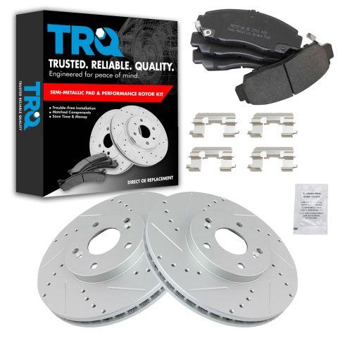 Front Rear Coated Rotors /& Semi-Metallic Brake Pads Fits Acura Honda Accord TSX