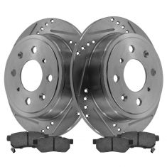 Rear Performance Rotor & Metallic Pad Kit 94-01 Integra, Civic