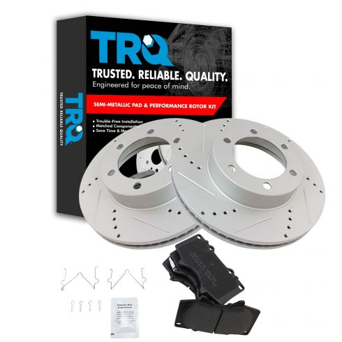 Set Of 2 Front Premium Brake Rotors  Fit  Toyota Sequoia /& Tundra Limited Life