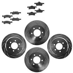 Front & Rear Performance Rotor & Metallic Pad Kit 02-06Expedition Navigator