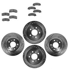 Front & Rear Performance Rotor & Ceramic Pad Kit 06-10 Impala Lucerne Monte
