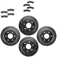 Front & Rear Performance Rotor & Metallic Pad Kit 99-09 Chevy Truck/SUV