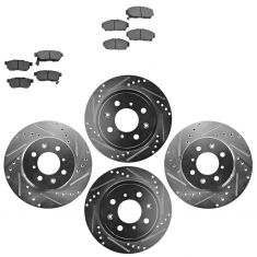 Front & Rear Performance Rotor & Ceramic Pad Kit 94-01 Intergra 94-95 Civic