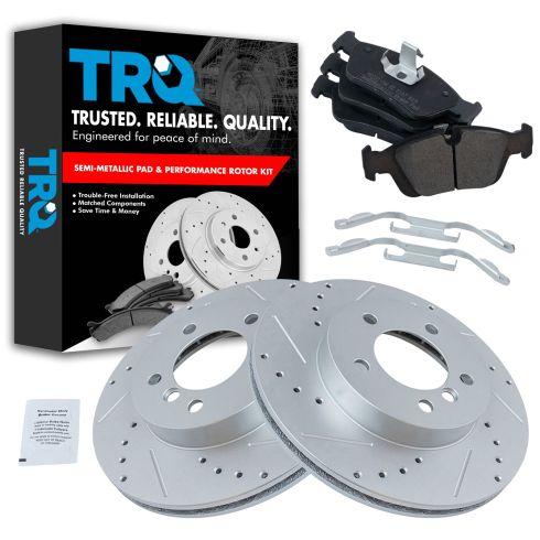 99-08 BMW 3 Series Multifit Front Metallic Brake Pad & Performance Rotor Kit