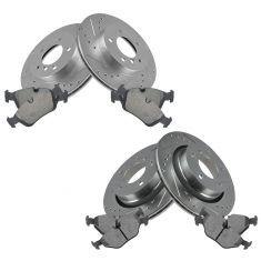 00-06 323, 325; 99 328 Front & Rear Performance Brake Rotor & Ceramic Pad Kit