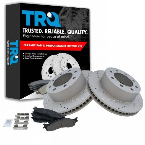 Rear Ceramic Disc Brake Pads Fit 06-08 Dodge Ram 1500 03-08 Ram 2500 3500 Front