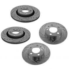 98-10 Beetle; 02-10 Golf; 99-06 Jetta Front & Rear Performance Rotor Set
